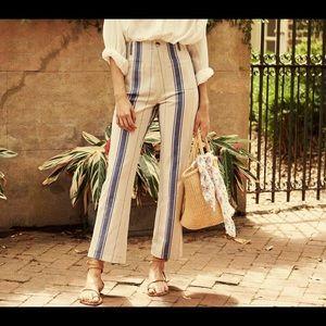 Dôen striped straight leg pants Size 26